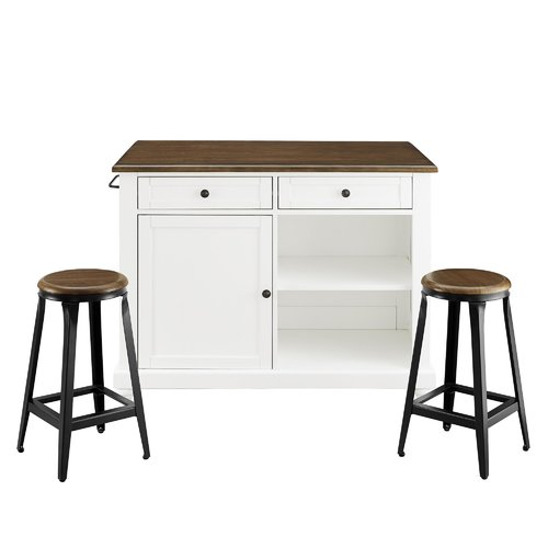 Darby Home Co Gilchrist Kitchen Island Set