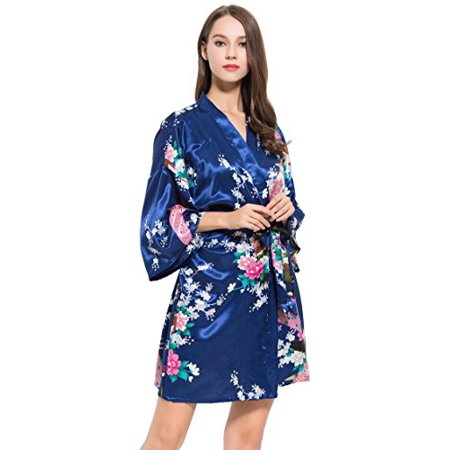 2a0ec898e7 Modern Celebrations - Navy Silk Robe
