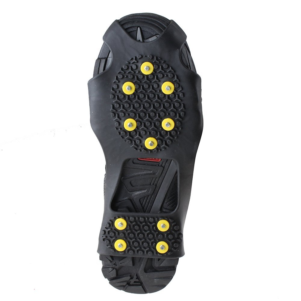 AGPtek Anti Slip Grip Shoe Covers Overshoes Snow Shoes Crampons Cleats for Ice Snow L