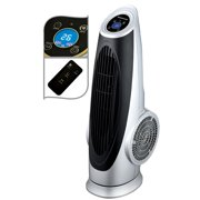 Ovente Cool Breeze Electric Oscillating Tower Fan with Digital Panel 3 Speed Control, 30.5 Inch Portable Remote Cooling Floor Fan with Quiet Low Noise Tech for Cooler Air at Bedroom Home, Silver TF88S