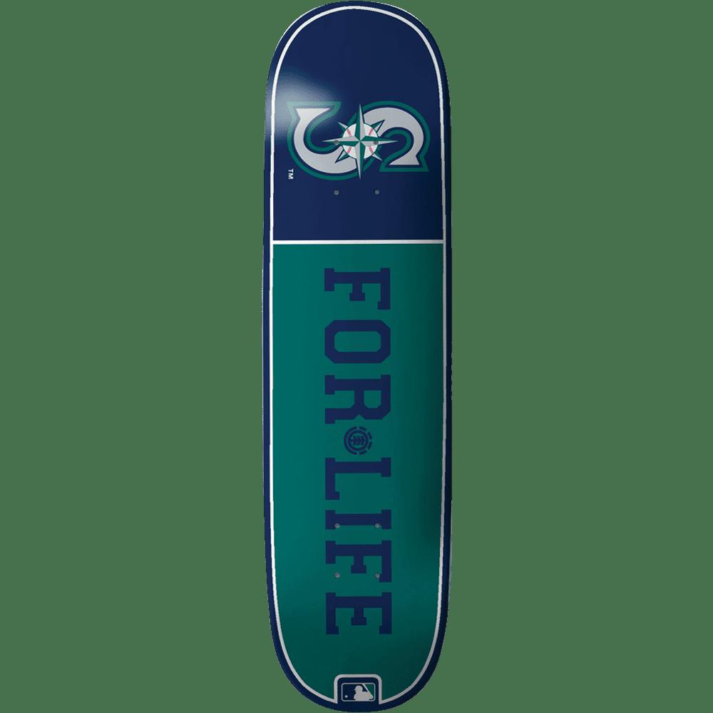 Element El Mlb For Life Seattle Skateboard Deck -8.0 Feat...
