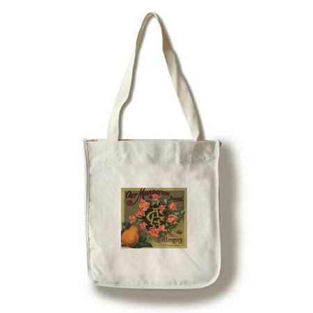 Our Monogram Brand - California - Citrus Crate Label (100% Cotton Tote Bag - Reusable) - Monogram Labels
