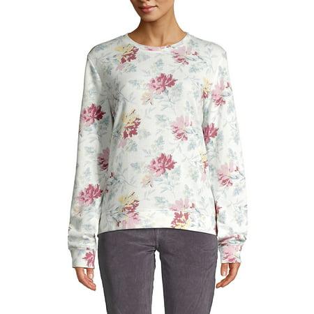 Floral Fleece Sweatshirt