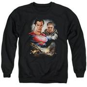Man Of Steel Kal El And Zod Mens Crewneck Sweatshirt