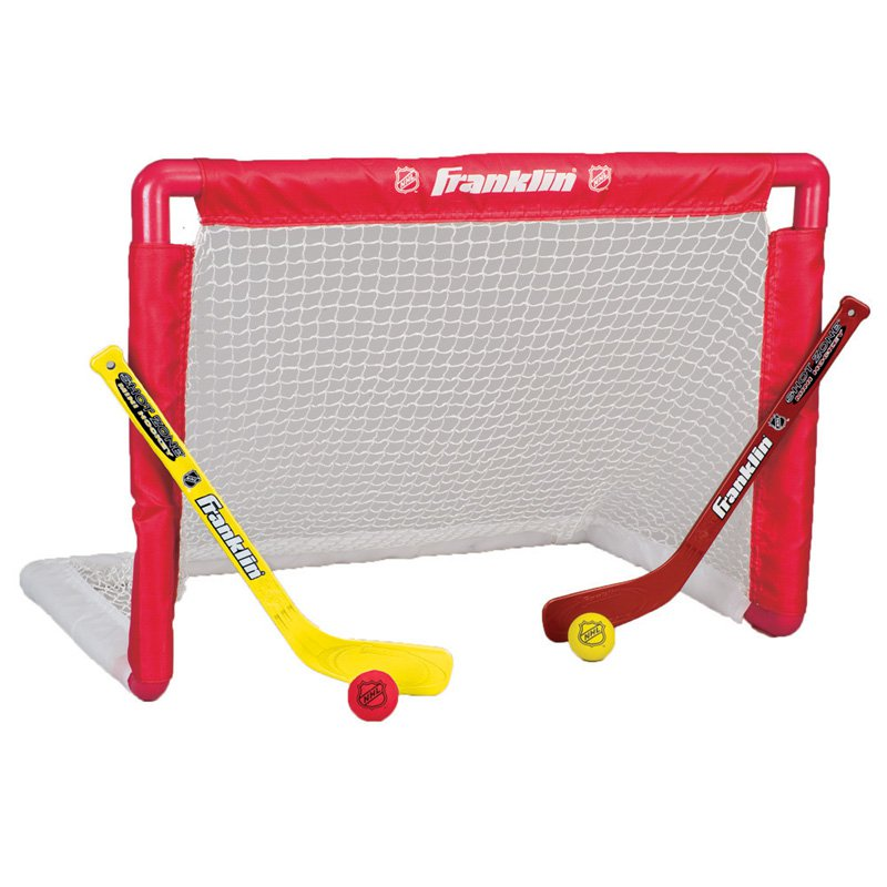 Click here to buy NHL Mini Hockey Goal Set by Franklin Sports.