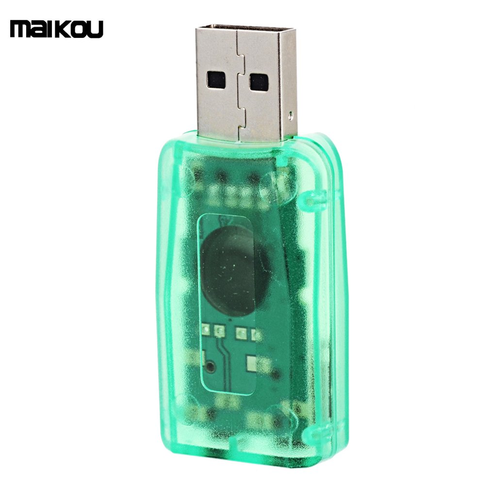 Maikou Mini External USB Sound Card 5.1 Channel Stereo Audio Card Adapter With 3.5mm Jack Interface for PC Computer