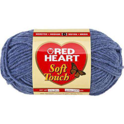 Red Heart Soft Touch Yarn, Available in Multiple Colors