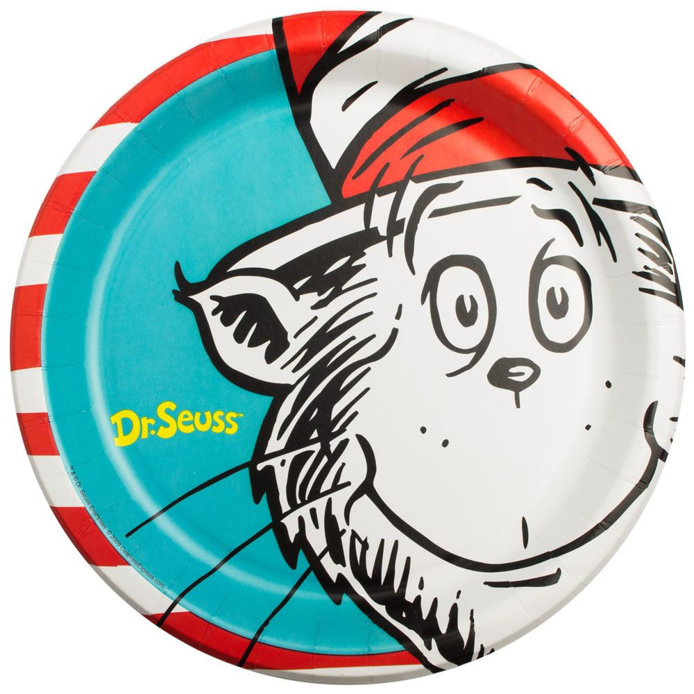 """Dr. Seuss Luncheon 9 1/2"""" Plates (8 Pack) - Party Supplies"""
