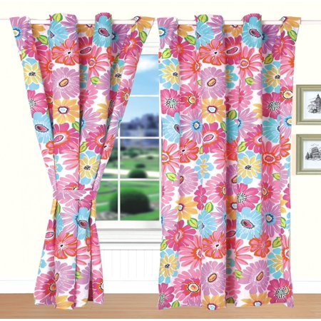 All American Collection New 4pc Flower Printed Bedspread Set w/ Matching Curtains Bedspreads And Curtains