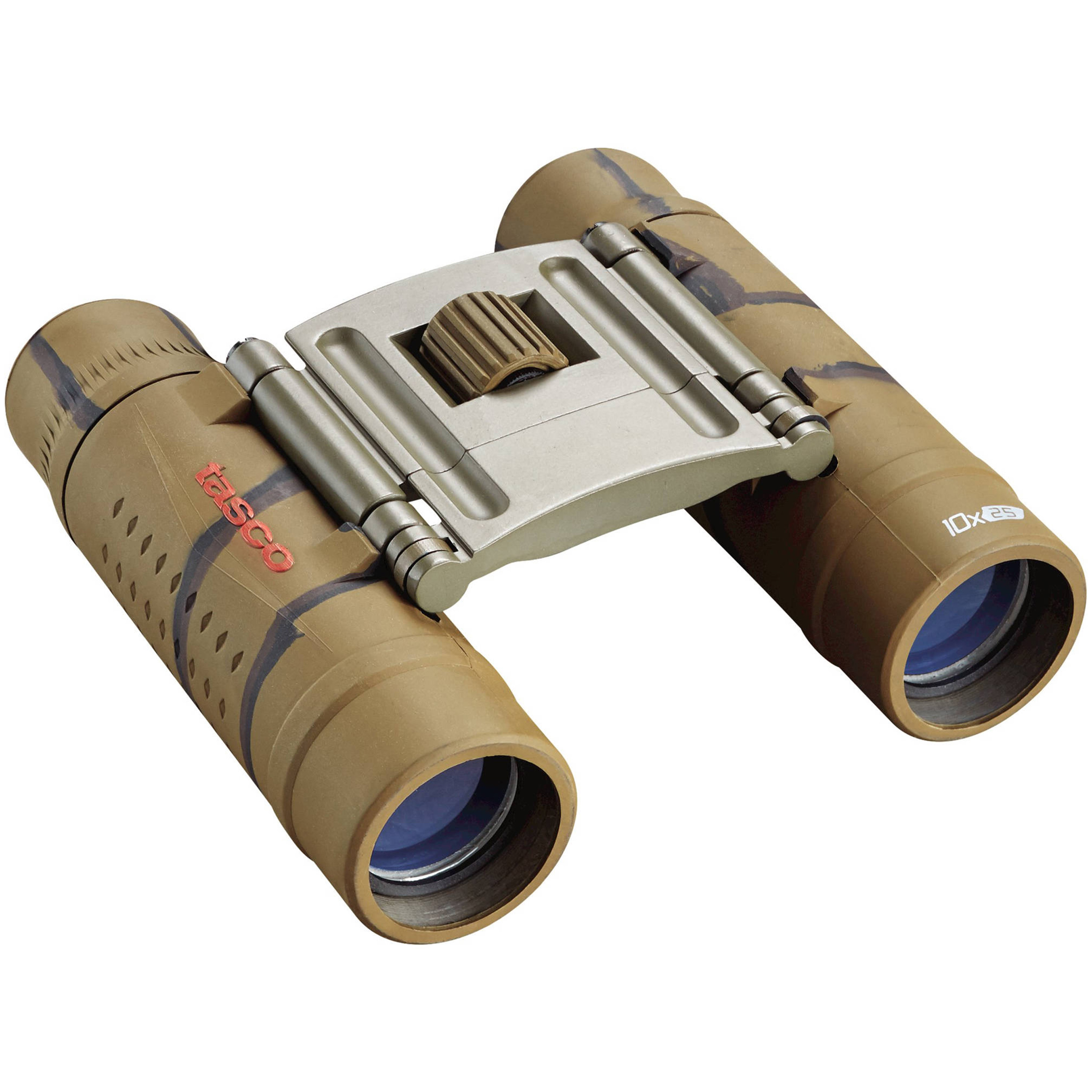 Tasco Essentials Binoculars 10x25mm, Roof Prism, Brown, Boxed