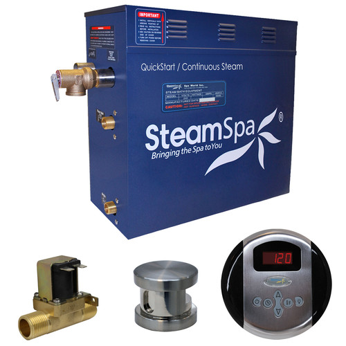 Steam Spa Oasis 4.5 kW QuickStart Steam Bath Generator Package with Built-in Auto Drain