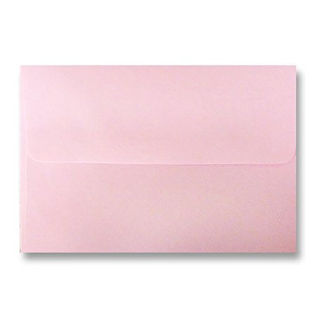 Shipped Free 25 Boxed Pastel Baby Pink A2 (4-3/8 x 5-3/4) Envelopes for Minis Response Enclosure Invitation Announcement Wedding Shower by The Envelope Gallery