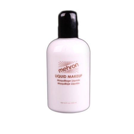 Mehron Face & Body Paint Studio Quality 4.5oz Liquid Makeup, White