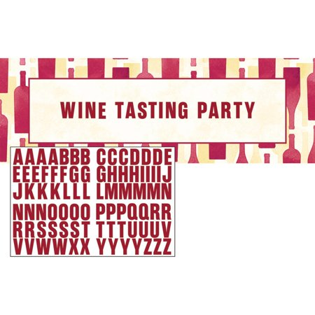 Club Pack of 6 Red Decorative Wine Tasting Party Themed Party Banners - Wine Themed Party
