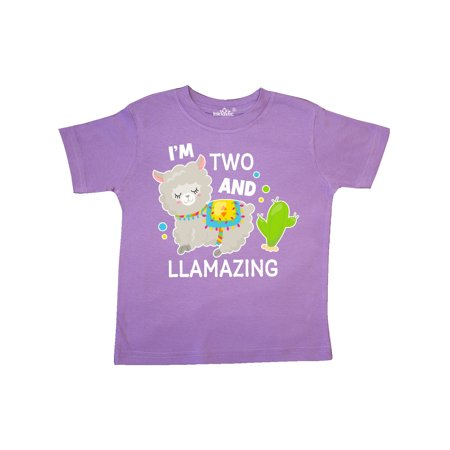 Im Two and Llamazing with Llama and Cactus Toddler T Shirt