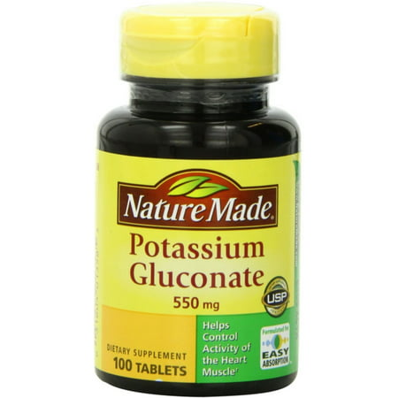Potassium Sparing Diuretic (2 Pack - Nature Made Potassium Gluconate 550 mg Tablets 100)