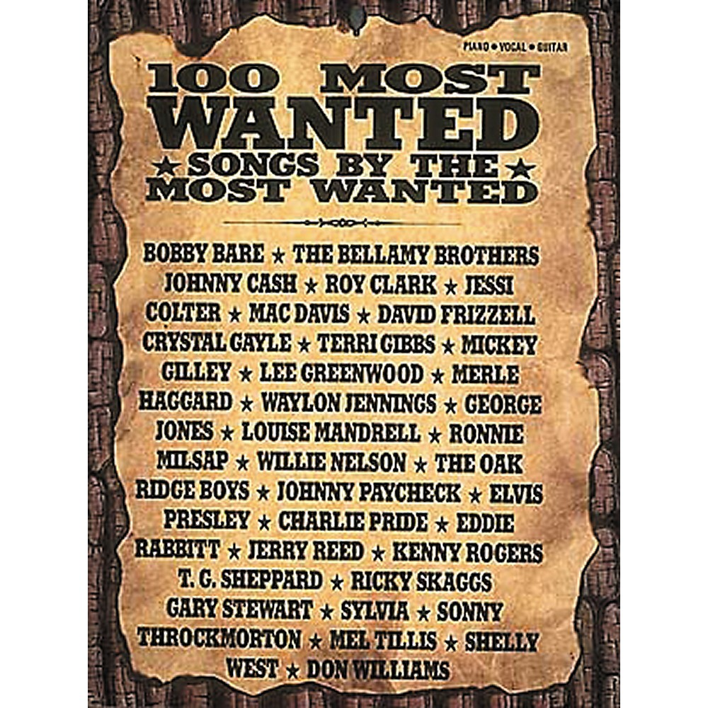 Hal Leonard Country - 100 Most Wanted Piano, Vocal, Guitar Songbook