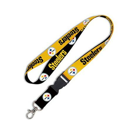 NFL Pittsburgh Steelers Lanyard with Detachable Buckle, 1-Inch - image 1 de 1