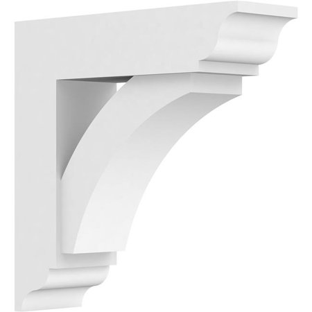Ekena Millwork BKTP03X12X12THR01 Standard Thorton Architectural Grade PVC Bracket with Traditional Ends - 3 x 12 x 12 in. - image 1 of 1