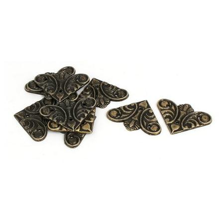 Jewelry Gift Box Butterfly Shape Corner Protector Guard 29mm x 29mm 10PCS ()