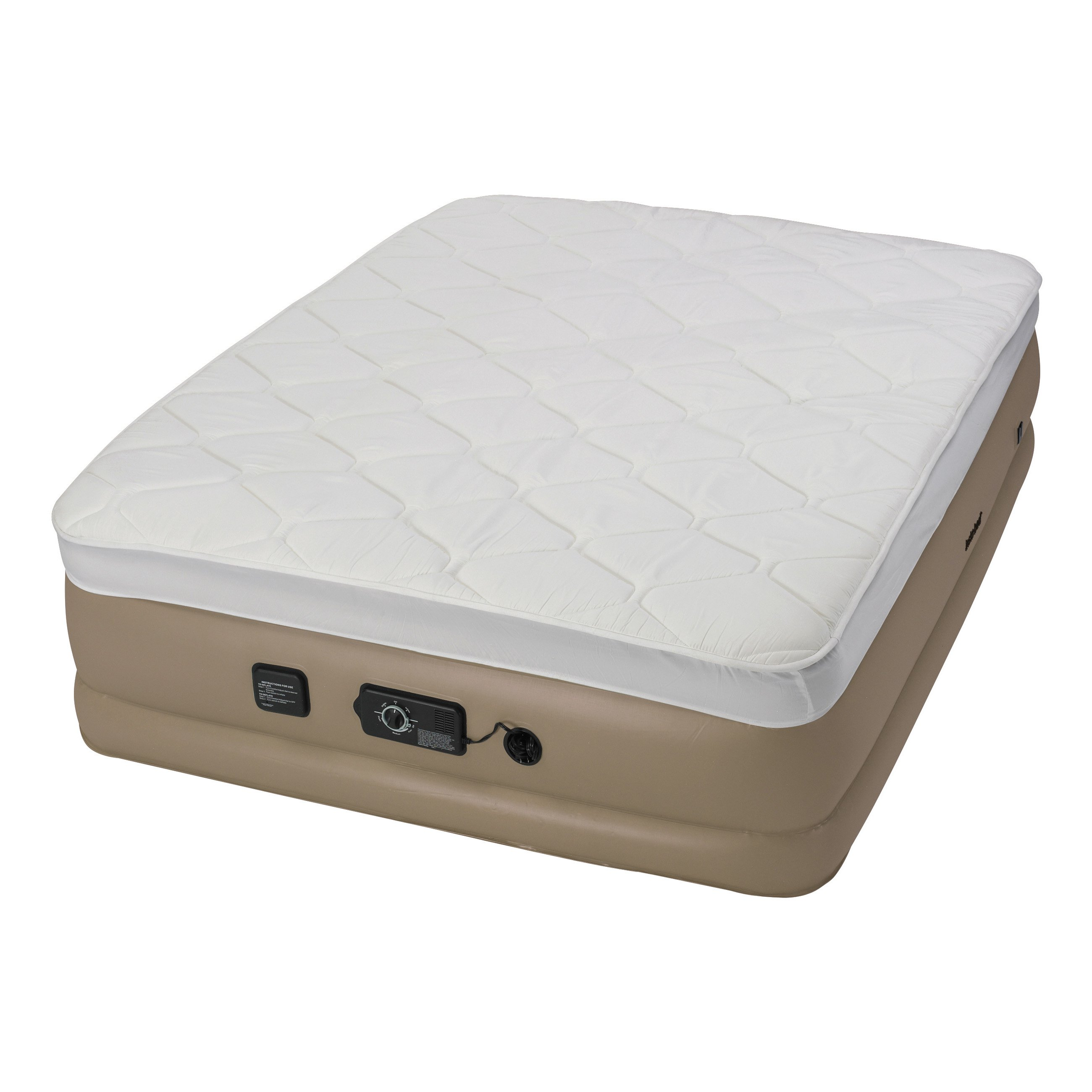 Insta-bed Raised Pillow Top Air Bed with NeverFlat AC Pump, Queen -  Walmart.com