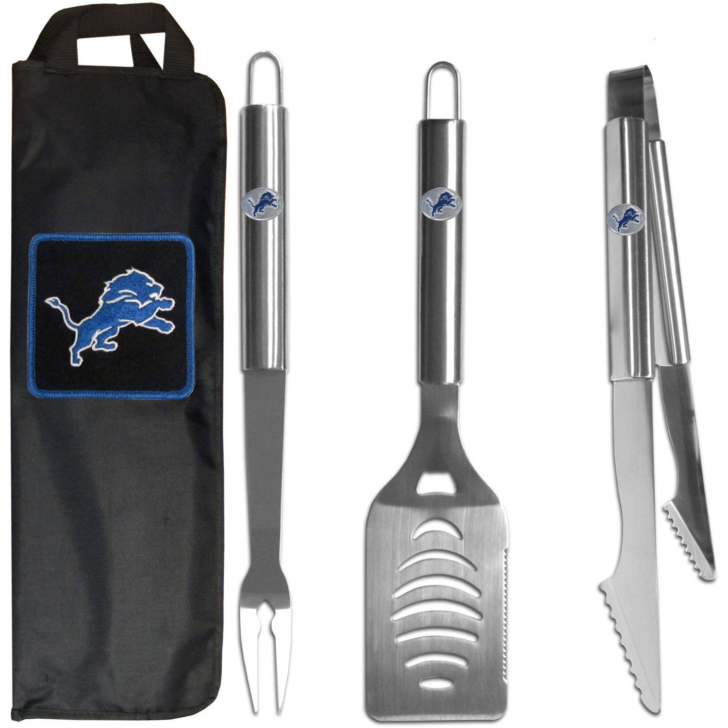 NFL 3-Piece BBQ Set with Canvas Case, Detroit Lions