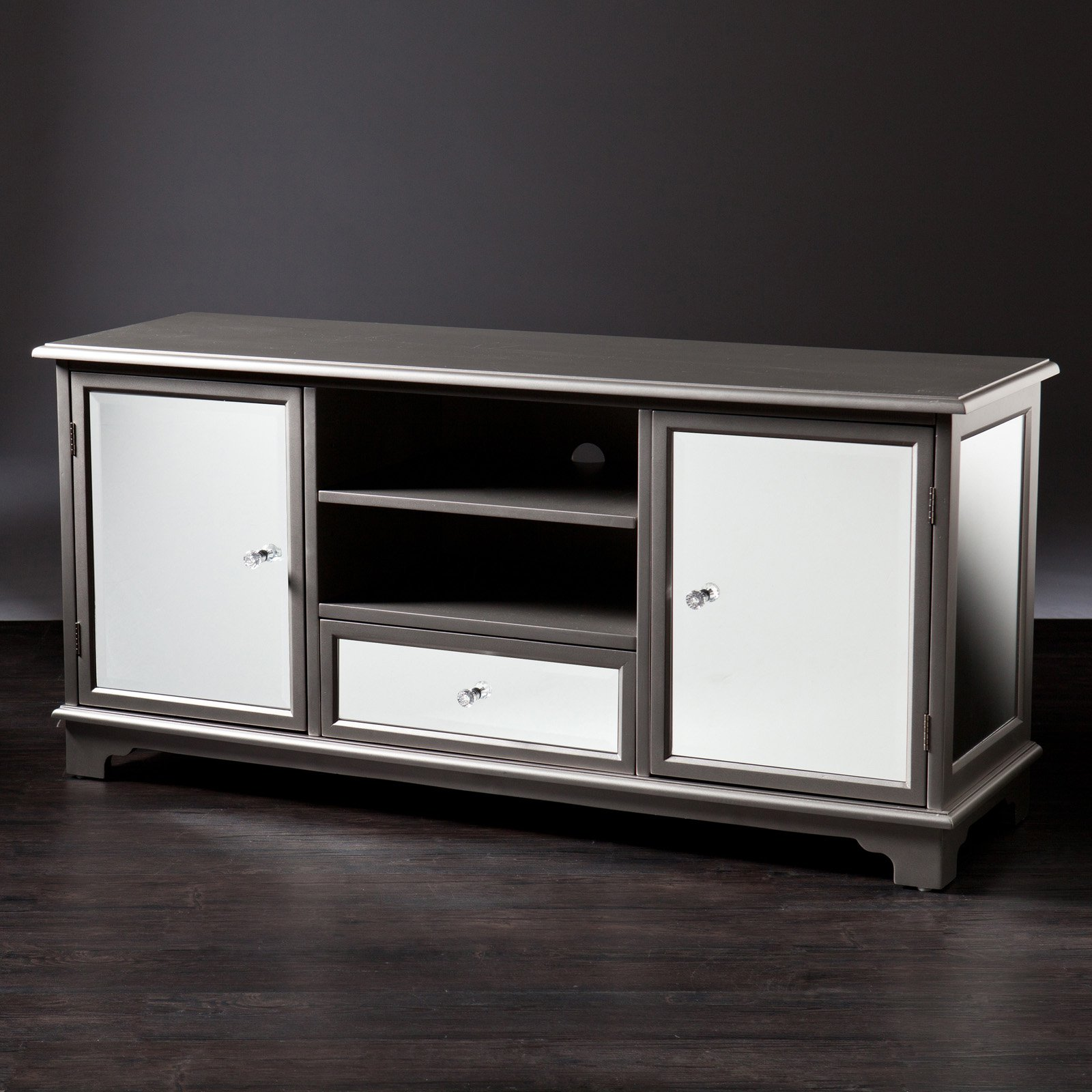 Southern Enterprises Reflection 50 in. TV/Media Stand - Silver