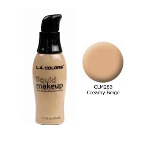 Creepy Makeup For Halloween ((3 Pack) LA COLORS Liquid Makeup - Creamy)