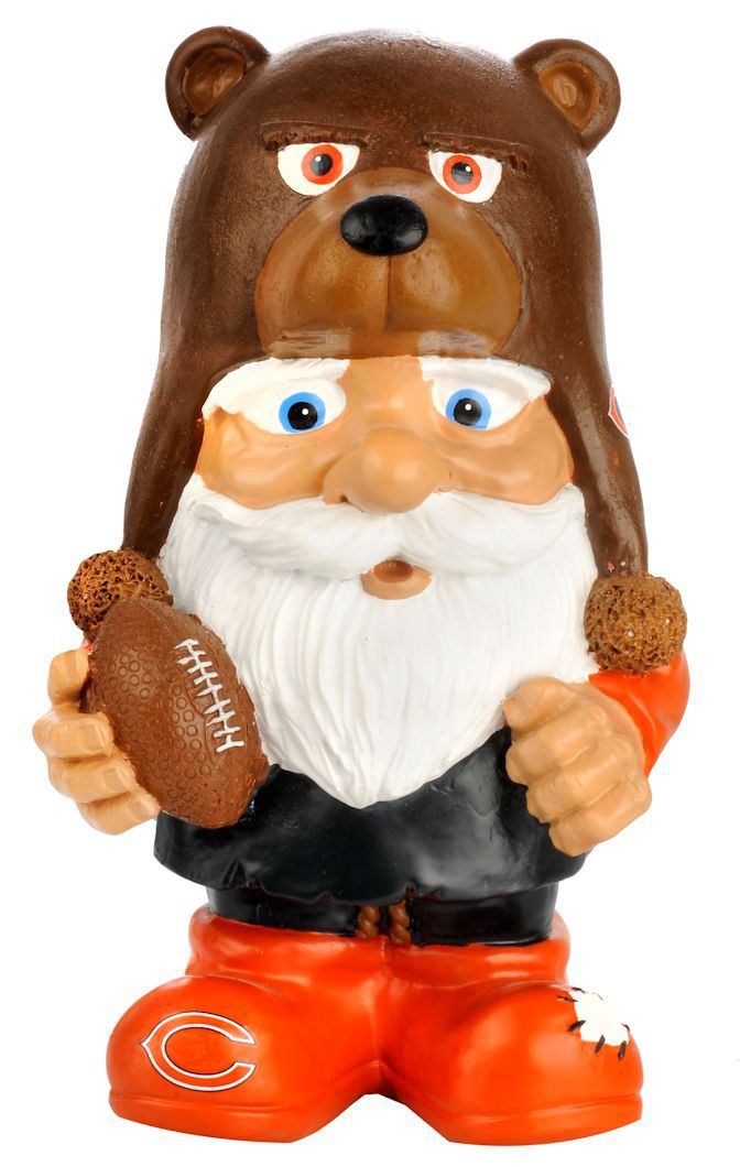 "Chicago Bears 8"" Mad Hatter Garden Gnome by Casey's Distribution"