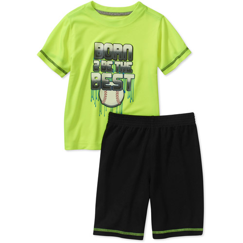 Healthtex Baby Boys' 2 Piece Tee and Short Athletic Set
