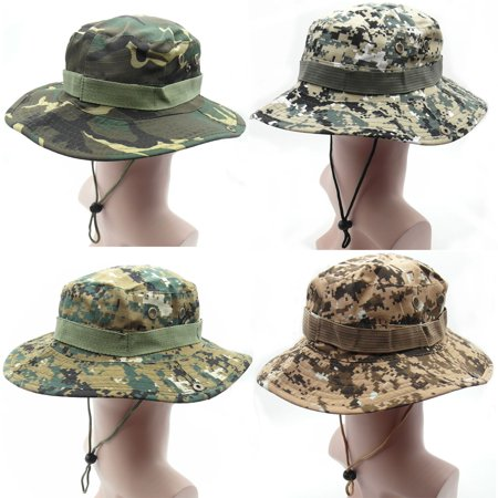 c9c42e970a3 TrendBox 1 Set (4 Hats) Army Camo Military Digital Boonie Sun Bucket Hat  Unisex Cap For Sports Camping Fishing Hiking Boating Outdoor - Walmart.com