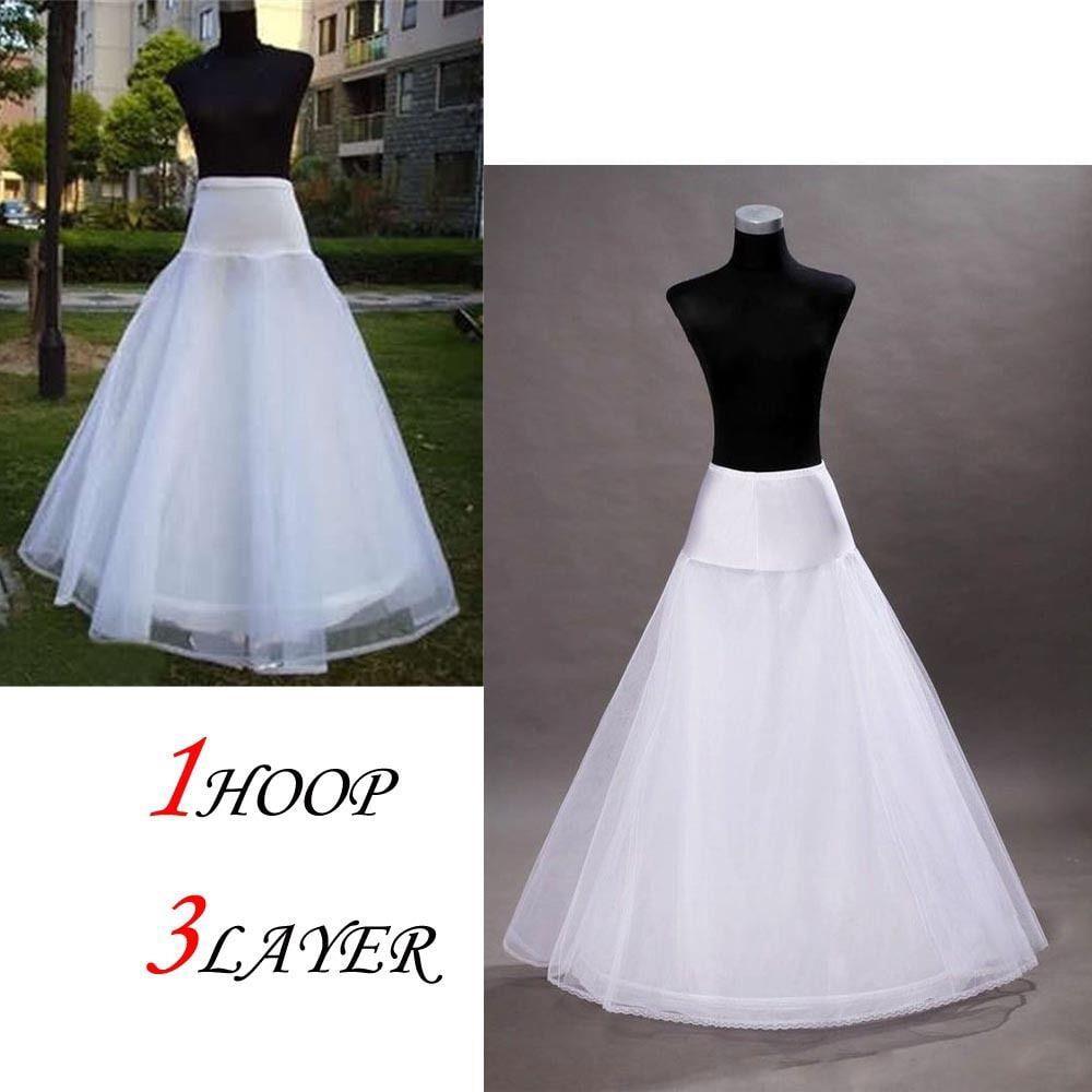 Ktaxon A-Line White Hoop Long Petticoat/Underskirt/Slip Crinoline Prom/Wedding