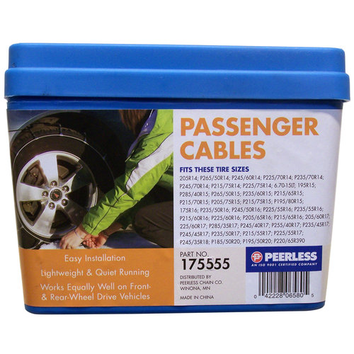 Peerless Winter Track Passenger Car Tire Cables, #175555