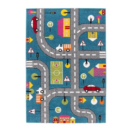 Ladole Rugs Adorable Cute Durable Soft Modern Moda Collection Kids Area Rug Carpet With Cars And
