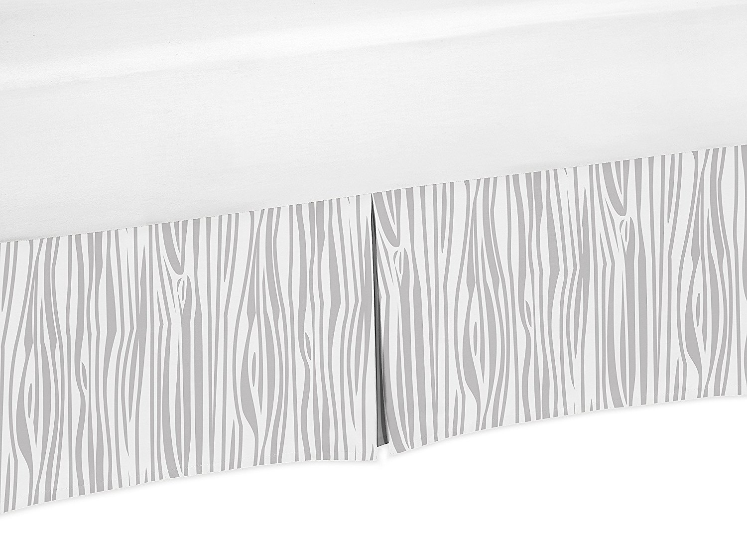 Wood Grain Print Crib Bedskirt Dust Ruffle for Boys Woodland Animals Collection Baby Bedding Sets by Sweet Jojo Designs