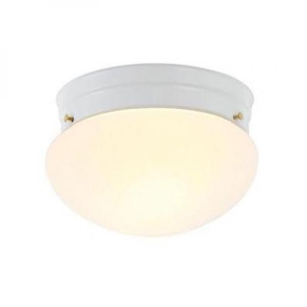 Hampton Bay 1-Light White Mushroom Flushmount 385 303 by