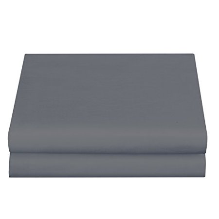 Cathay Luxury Silky Soft Polyester Single Fitted Sheet, Queen Size, Gray - image 1 de 1