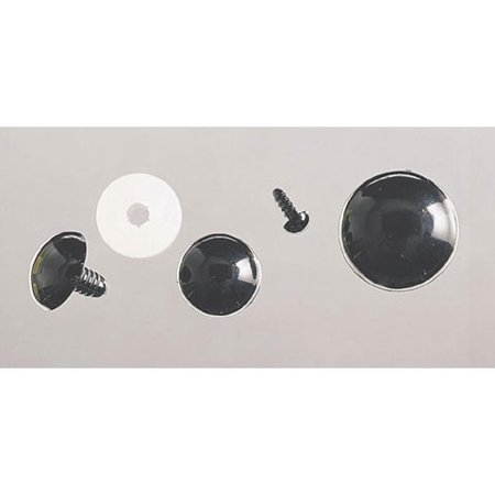 Eyes Solid Black With Plastic Washer 6Mm 100Pc (Craft Eyes)
