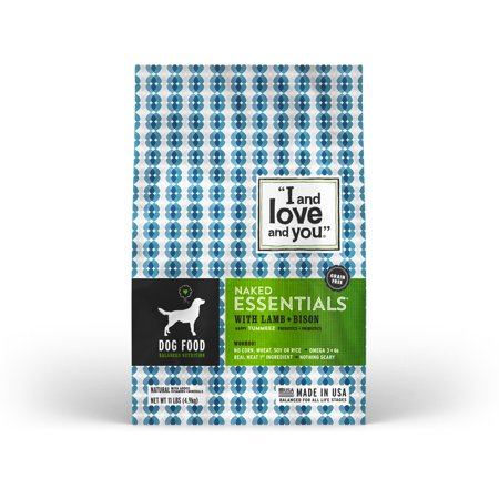 I And Love And You    Naked Essentials Lamb   Bison Grain Free Dry Dog Food  11 Lb