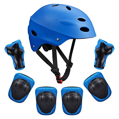 Color : Blue Kids Bike Helmet 3-6 Years Boys and Girls Helmet Set,Multi-Sport from Toddler to Youth Skateboarding Rollerblading and Other Extreme Sports