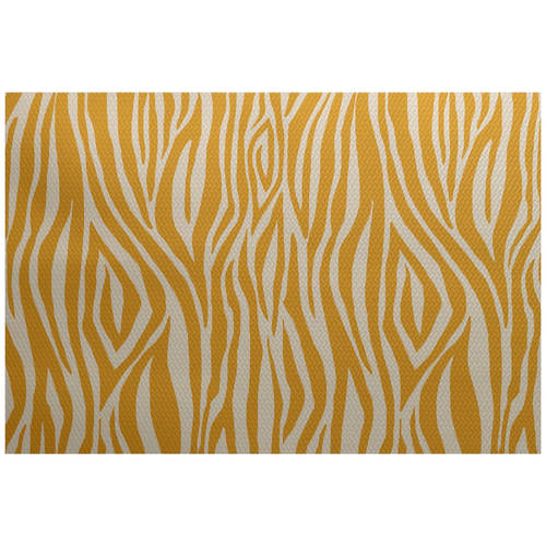 Simply Daisy 3' x 5' Wood Stripe Geometric Print Indoor/Outdoor Rug
