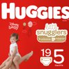 HUGGIES Little Snugglers Diapers, Size 5, 19 Count