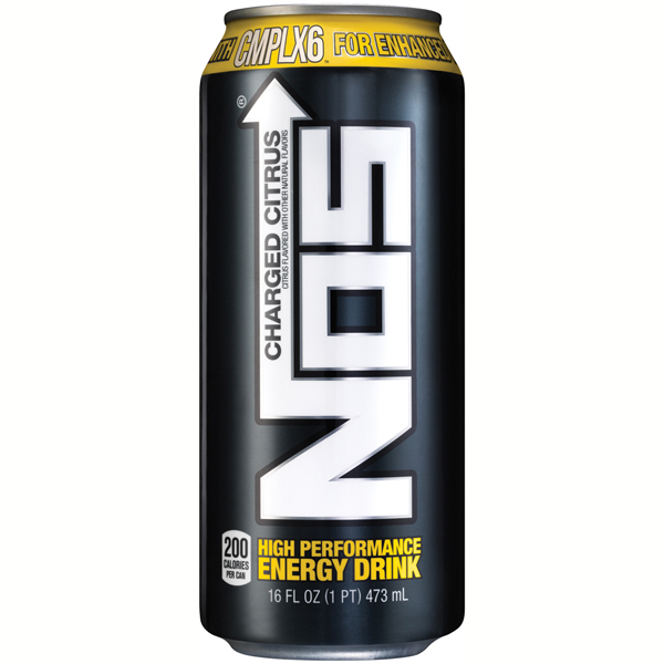 NOS Charged Citrus High Performance Energy Drink 16 oz Cans Pack of 12 by