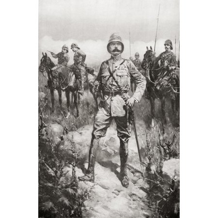 Lord Kitchener on the Veldt South Africa shortly before peace was signed on May 31st 1902 at the end of the Second Boer War Field Marshal Horatio Herbert Kitchener 1st Earl Kitchener 1850 Canvas Art -