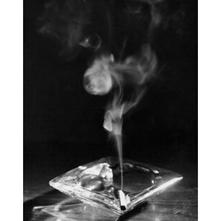 - Close-up of a burning cigarette in an ashtray Stretched Canvas -  (24 x 36)