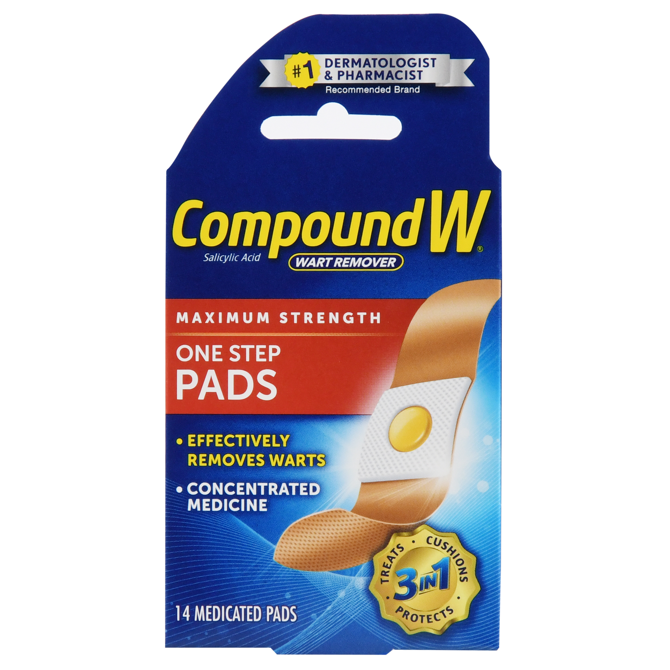 Compound W Wart Remover One Step Pads Maximum Strength - 14 CT