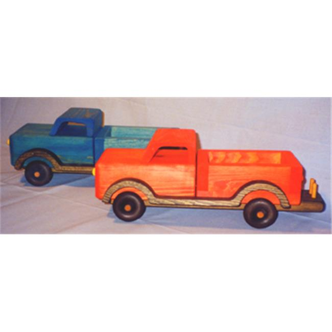 THE PUZZLE-MAN TOYS W-2032 Wooden Play Farm Series Accessories Pick Up Truck by