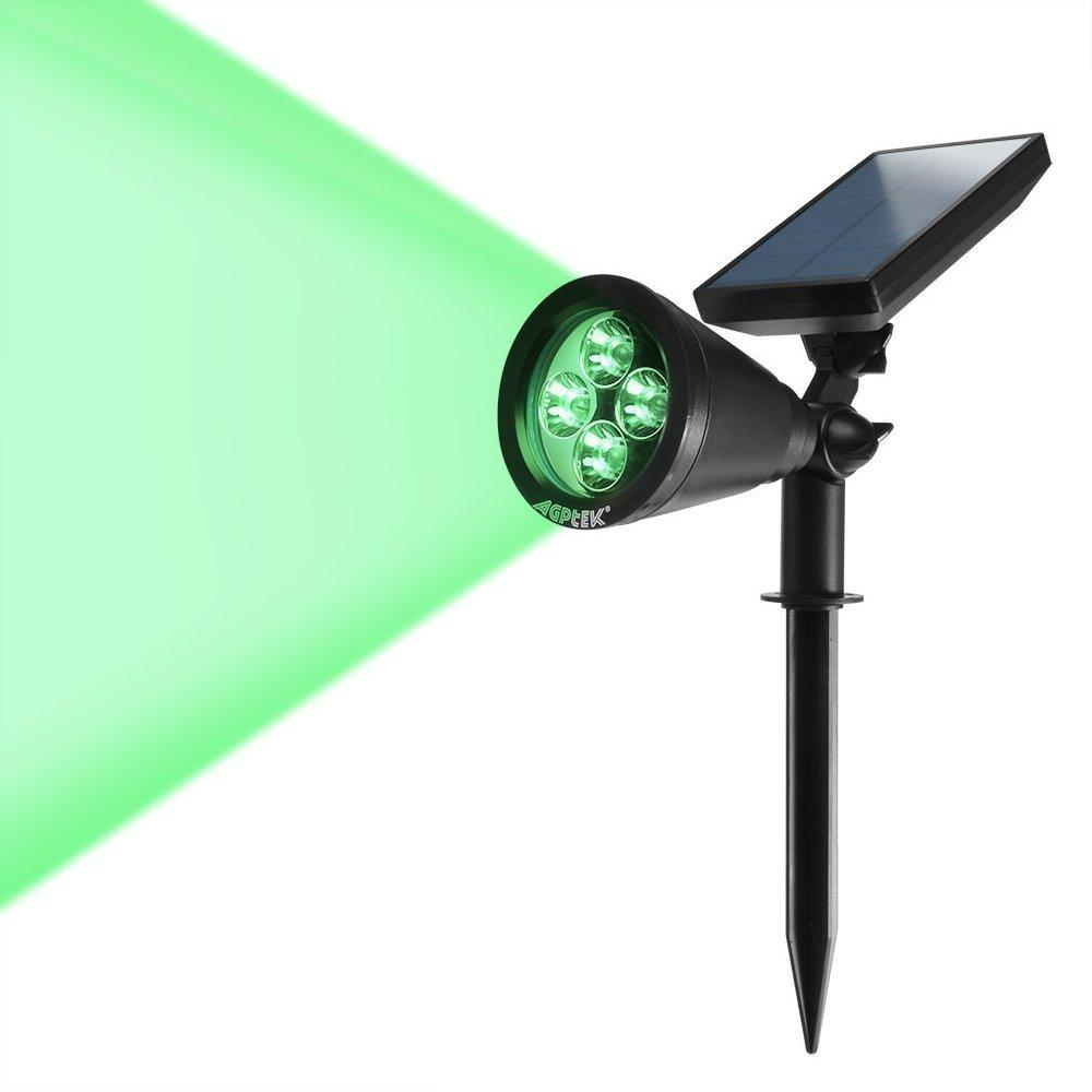 Angle Adjustable] AGPTEK New Version 200 Lumens Solar Wall Green ...