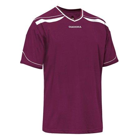 Diadora T-shirt - Diadora Women's Treviso Jersey S/S Shirt BURGUNDY S