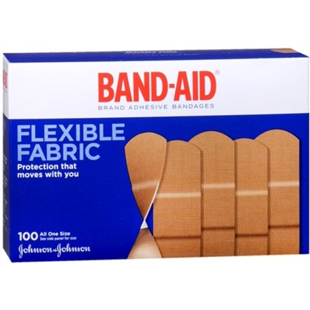 - 2 Pack - BAND-AID Flexible Fabric All One Size Adhesive Bandages 100 Each